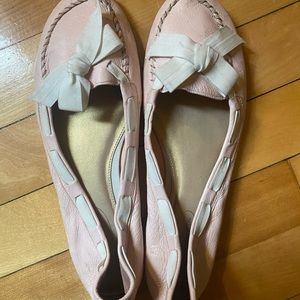 Talbots Soft Leather Pink Loafers